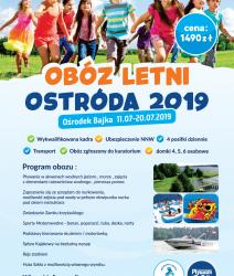 ZAPRASZAMY NA OBÓZ LETNI OSTRÓDA W TERMINIE 11.07-20.07.2019